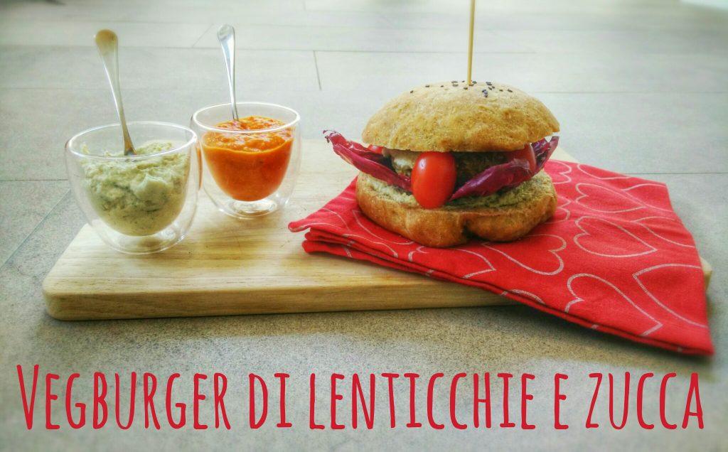 Vegbuger di lenticchie e zucca
