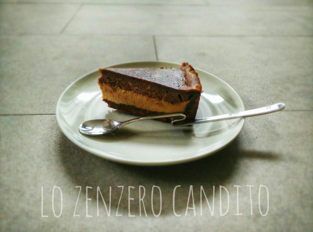 Cheese cake al caffè e cioccolato