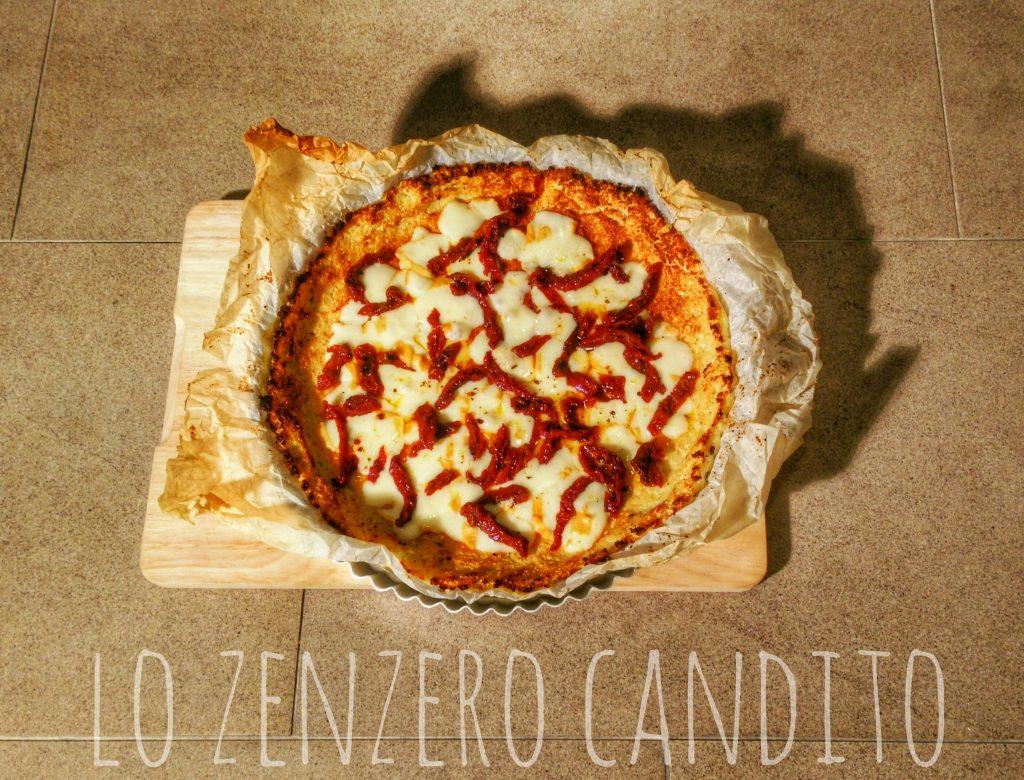 Pizza con base di cavolfiore