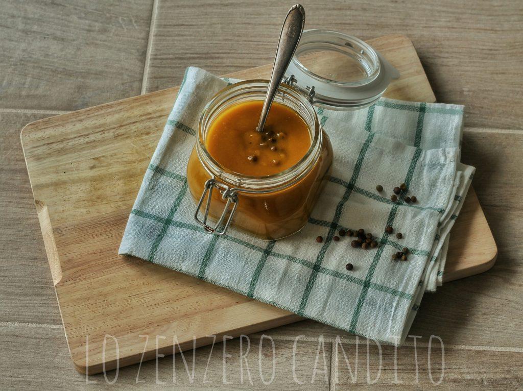 Zuppa zucca, roveja e curry