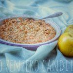 Crumble rustico di mele
