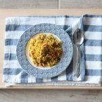 Cous cous di cavolfiore con verdure al forno