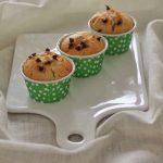Muffin con recioto bianco e gocce di cioccolato