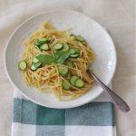 Spaghetti alla chitarra con zucchine e bottarga