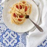 Pasta con bottarga e pomodorini semi secchi