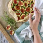 Crostata senza burro con fichi e rosmarino
