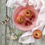 Muffin panna e lamponi