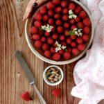 Cheesecake pistacchi e lamponi