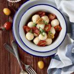Gnocchi di ricotta con  pomodorini semi secchi